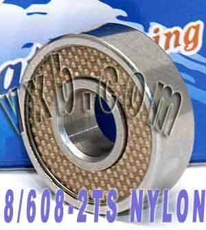 8 Skateboard Bearings:Nylon: Sealed:vxb:Ball Bearing