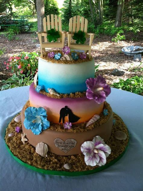 Tropical Wedding Cakes   Beach Weddings   Pinterest