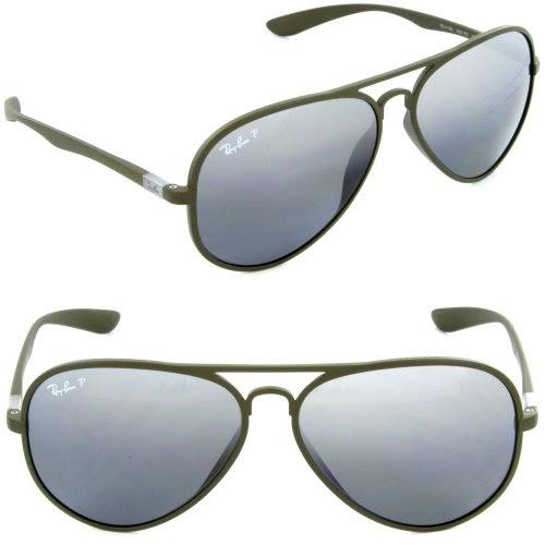 8c1a368836 Nukchim  Ray Ban Liteforce Aviator Tech Polarized RB4180 882 82 Matte Green Polar  Gray GSM 58mm Sunglasses