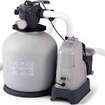 Intex Krystal Clear Saltwater System & Sand Filter Pump, Grey