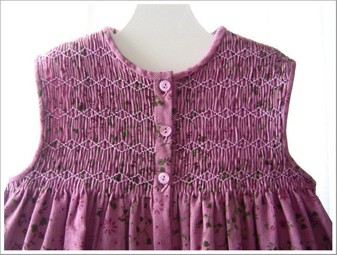 SALE 25% - Lovely Purple Corduroy Jumper - 3 to 4 yr. - annafabo