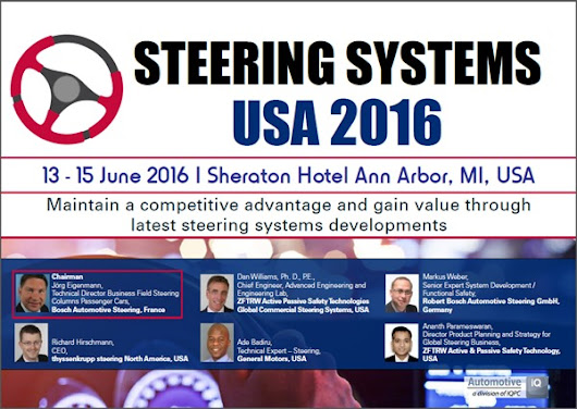 Steering Systems USA 2016 Agenda