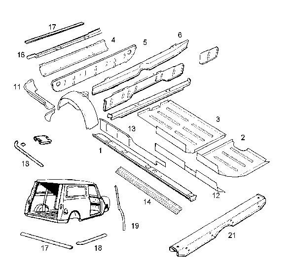 33 Mini Cooper Body Parts Diagram