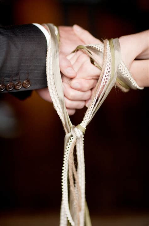 Handfasting or hand tying wedding ceremony   Josh Withers