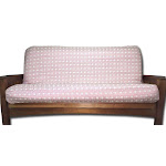 Lifestyle Exclusives Luxury Full Size Futon Cover Fits Mattress 54x75 x 6 to 8 Pink Grid