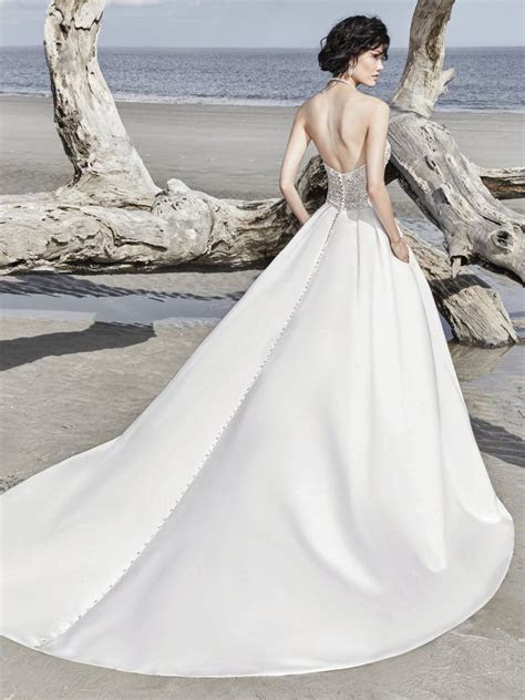 Phoenix (8SS785) Simple Satin Wedding Dress By Sottero and