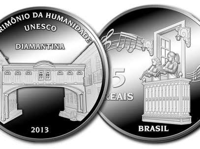 Moeda de prata em homenagem a cidade mineira tem valor de face de R$ 5 Foto: Divulgação