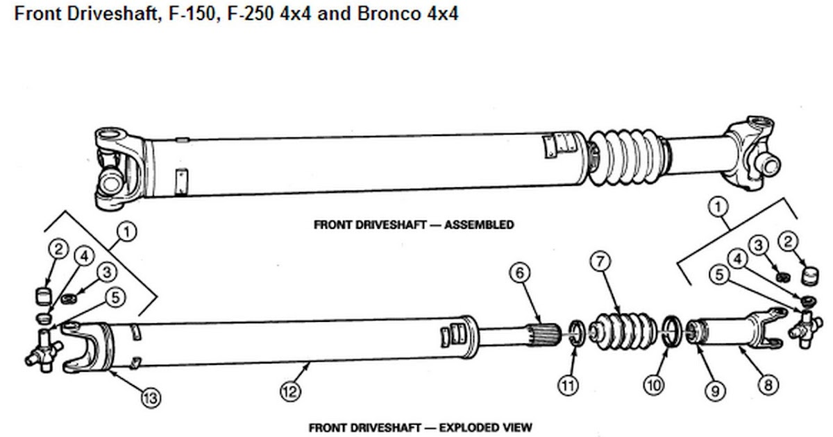 30 Ford Ranger Drive Shaft Diagram