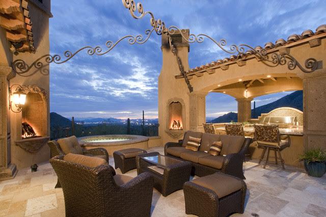 Fireplace in Multi-Million Dollar Home Designed by Fratantoni ...