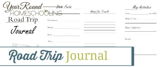 Road Trip Journal - Year Round Homeschooling