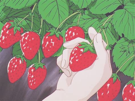 anime strawberry aesthetic sanime saesthetic
