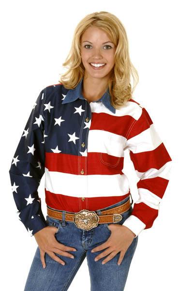 womens western shirt  patriot