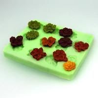 11 flower silicone reusable mold