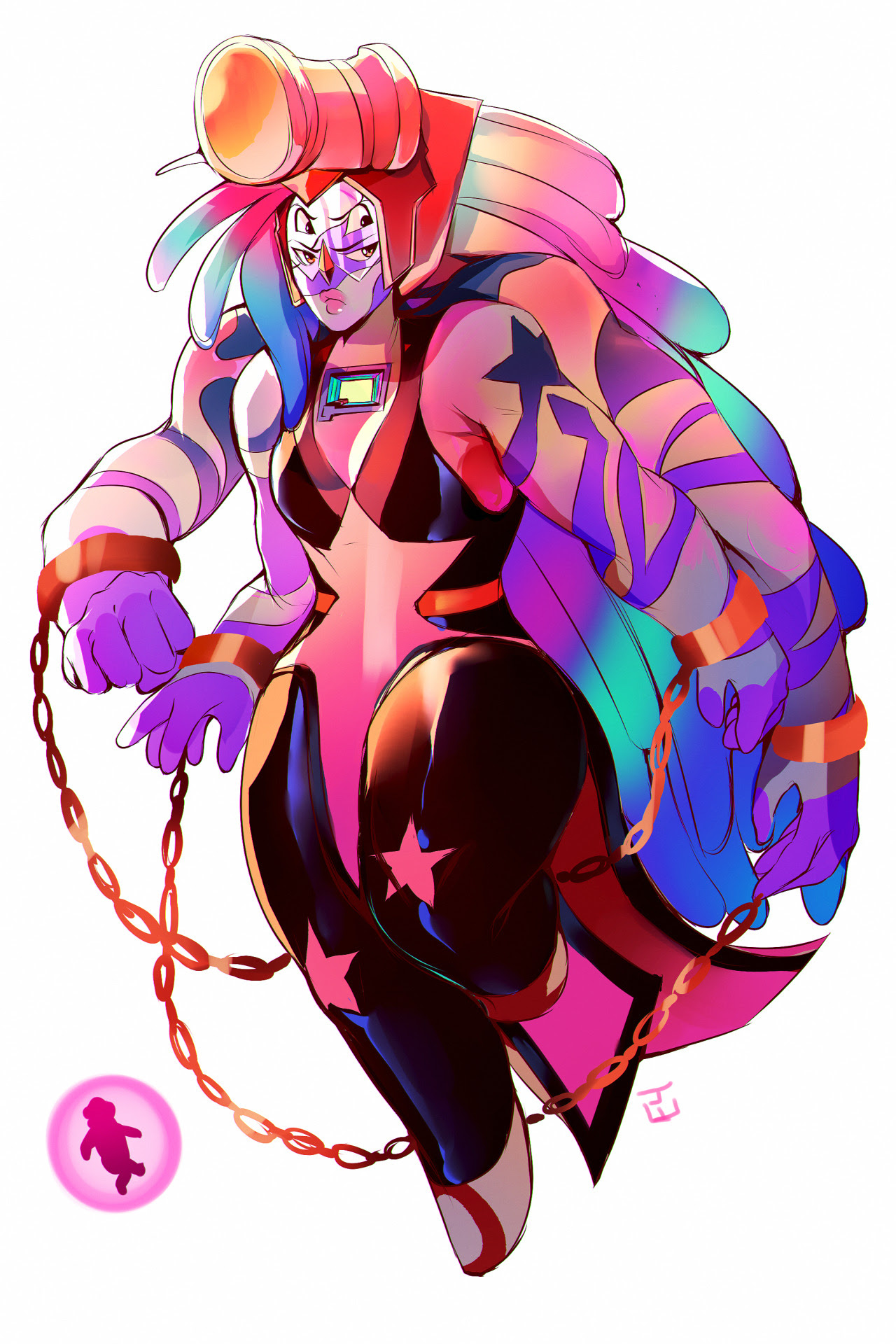 Maybe Bismuth would be the one who wants to stay Bismuth+Jasper fusion with Jasper redeemed because my friend said I should draw one