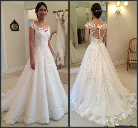 New White/Ivory Ball Gown Wedding Dresses Bridal Gowns