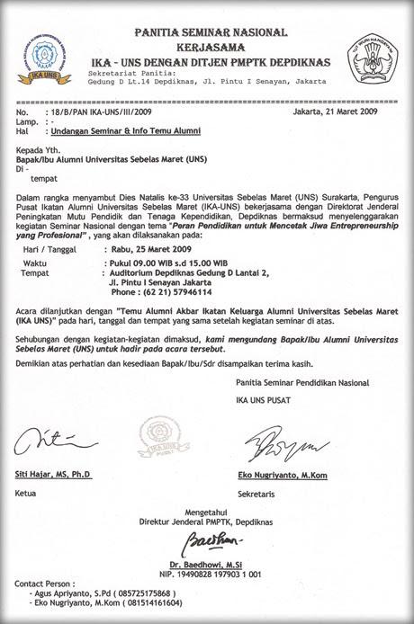 Surat Undangan Resmi Sekolah Dalam Bahasa Inggris - Contoh ...