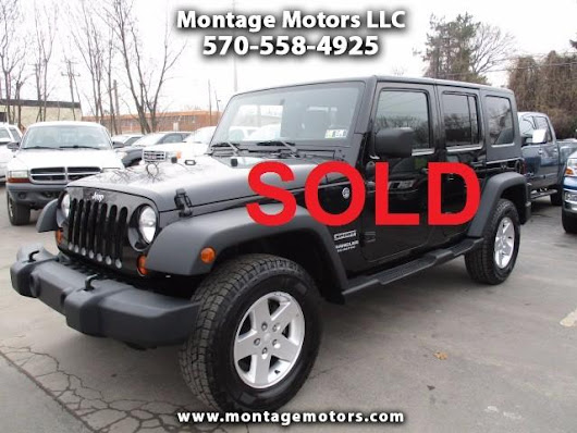 Used 2010 Jeep Wrangler Unlimited Sport 4WD for Sale in Scranton PA 18505 Montage Motors LLC