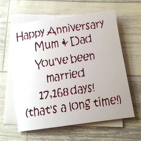 Anniversary card, mum and dad anniversary, mum dad