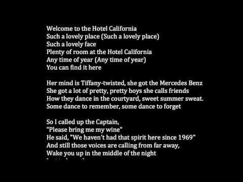 Lyrics Of Hotel California Backwards Masking Instalzoneminnesota