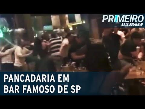 Pancadaria em bar deixa clientes feridos e prejuízo de R$ 50 mil