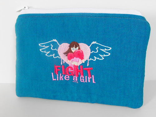 Fight Like A Girl - zip pouch