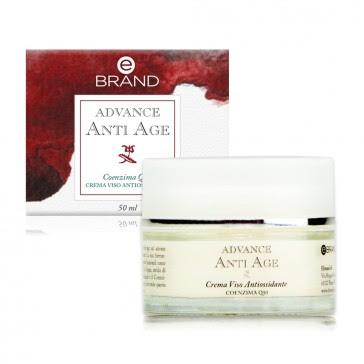 Crema Viso Anti Age Antiossidante Coenzima Q10 - Ebrand Advance - ml. 50
