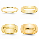 14K Solid Yellow Gold 2MM 3MM 4MM 5MM 6MM 8MM Men's Women