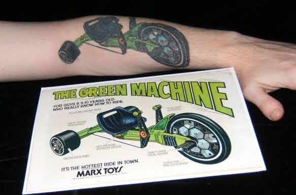 green machine tatoo