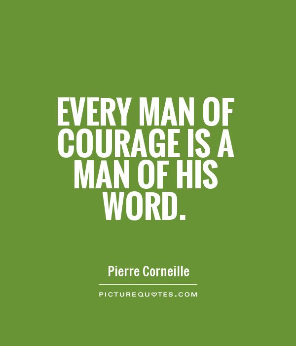 Quotes About Man Of His Word 59 Quotes