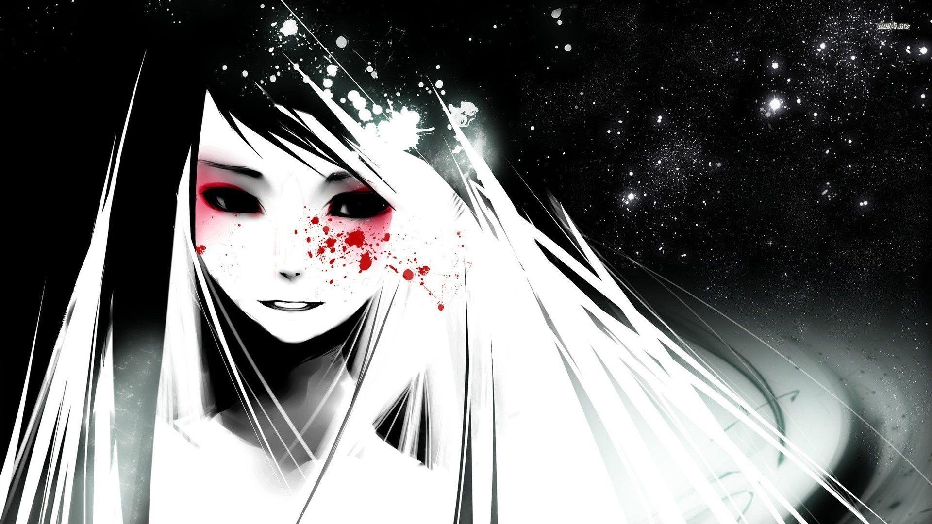 Dark Anime Girl Wallpaper - WallpaperSafari