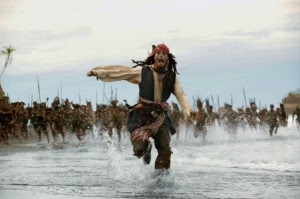Jack Sparrow corriendo