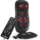 Gideon Shiatsu Massage Cushion with Heat Portable Chair Pad Massager with Deep Kneading Pain Relief for Full Back & Neck Includes Six Program Remo