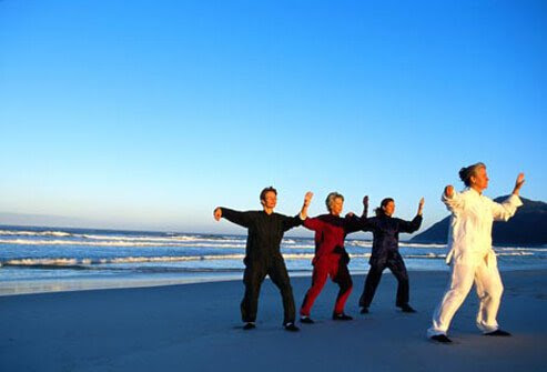 Photo of tai chi class.