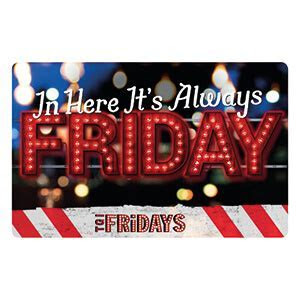 TGI Fridays Vouchers   Gift Cards   Free P&P   Order up to