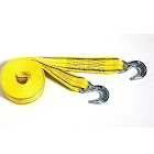 Progrip 30'x2' Tow Strap with Hook - Yellow