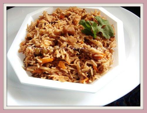 Mixed Veggies & Lotus Root Briyani