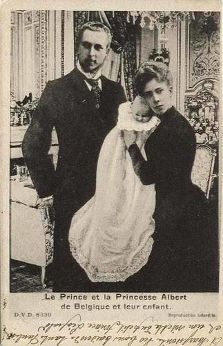Kronprinz Albert von Belgien mit Familie, Crown Prince of Belgium with family