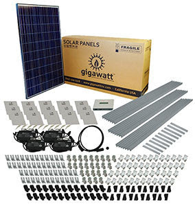 2kw Solar Panel Installation Kit 2000 Watt Solar Pv System For Homes Complete Grid Tie Systems