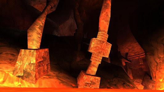 Lava below the Slag Pit
