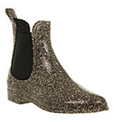 Juju Dug out chelsea welly boo Glitter rubber