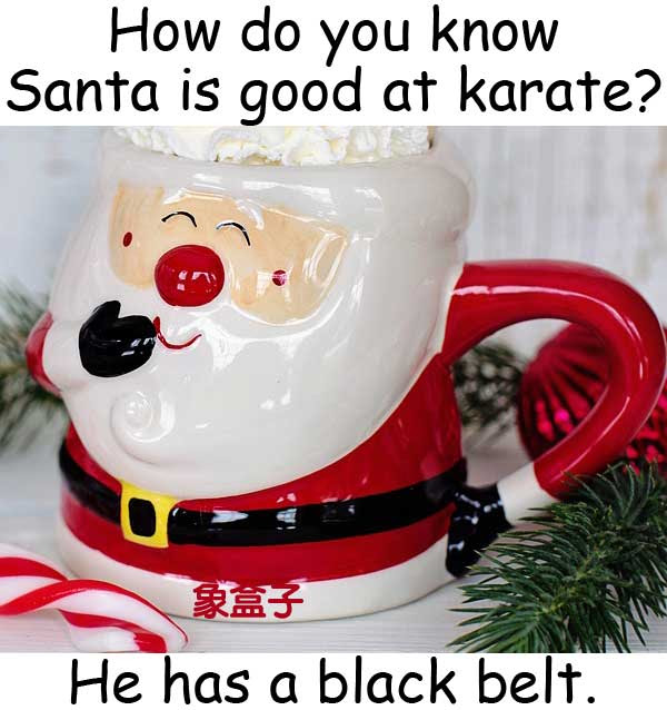Santa karate black belt