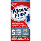 Move Free Advanced Glucosamine Chondroitin MSM Vitamin D3 and Hyaluronic Acid Joint Health Supplement, Coated Tablets - 80 Count