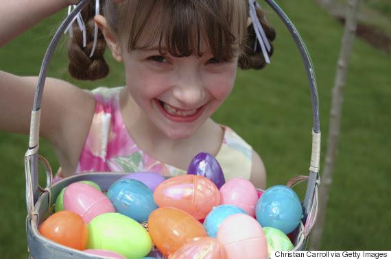 plastic easter egg child