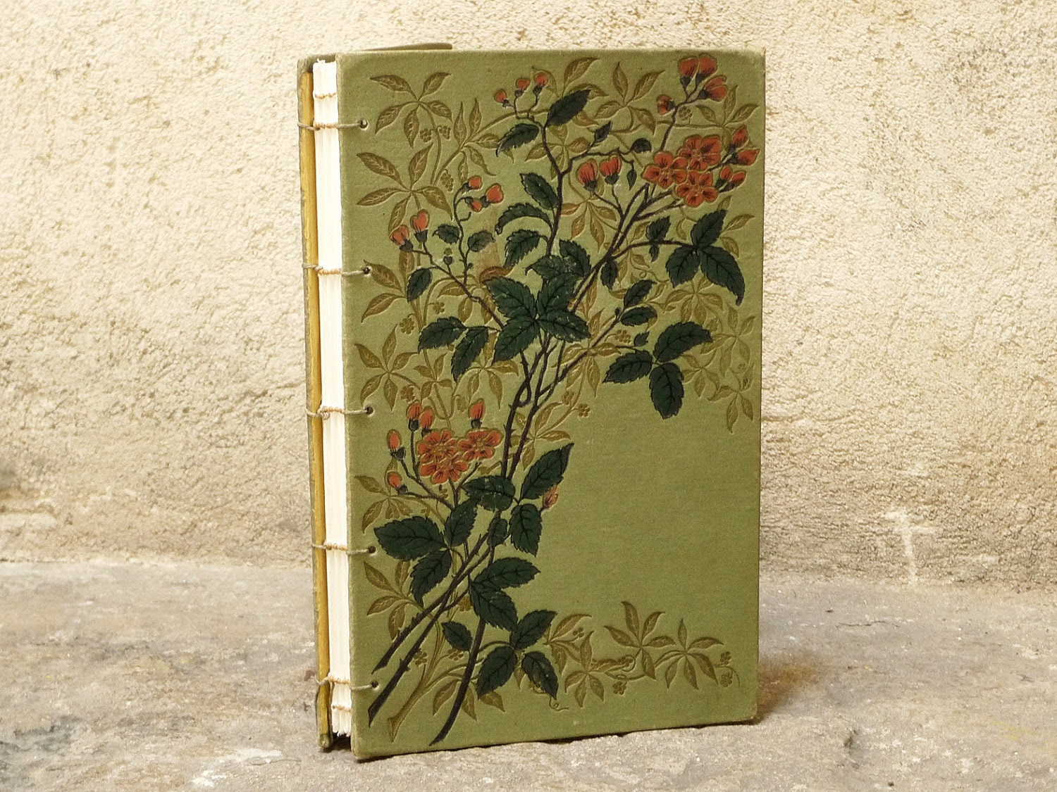 Vintage Wedding Guest Books Made to Order Using Old French Books SAMPLE LISTING