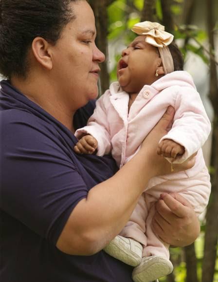 Fabiane comemorou a alta médica da filha, no domingo passado: Valentina ficou internada por 19 dias