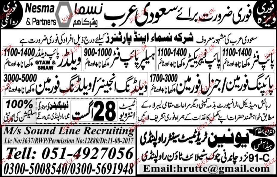 Welding Engineers Welding Foreman Job Opportunity 2020 Job Advertisement Pakistan
