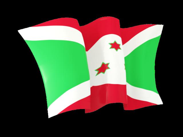 Waving Flag Illustration Of Flag Of Burundi