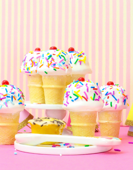DIY No-Bake Mini Cupcake Ice Cream Cones! ⋆ Brite and Bubbly