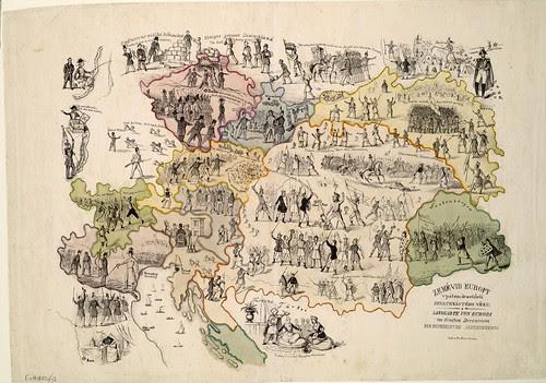 Landkarte von Europa (Fr. Síra - pub., 1850)