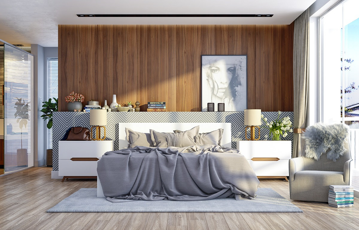 modern wood walls for bedrooms